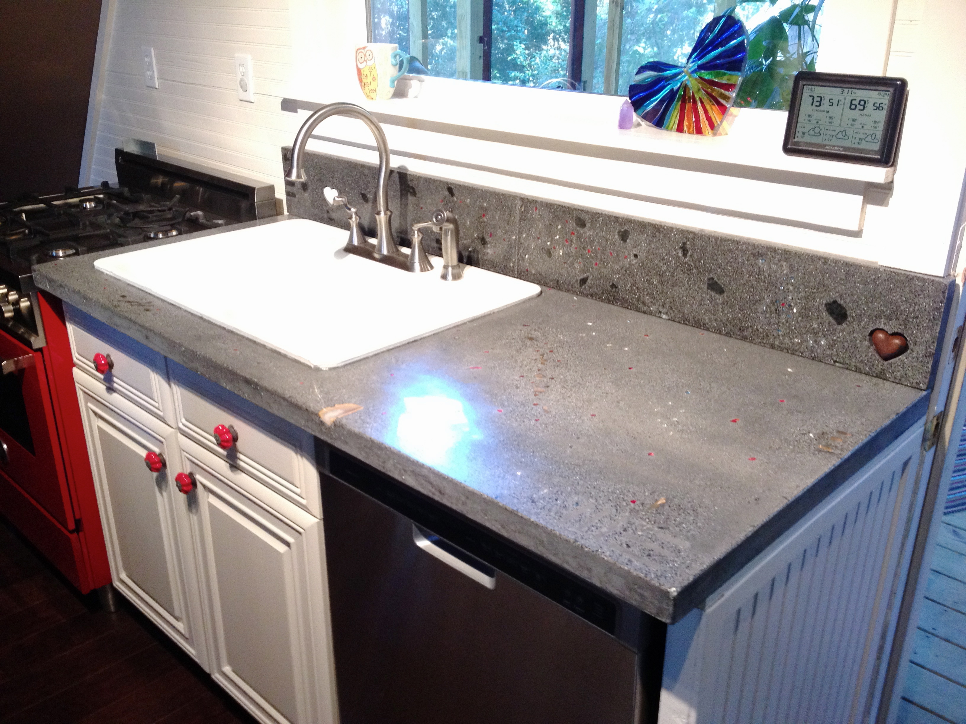 img remade diy better countertops countertop kitchen concrete